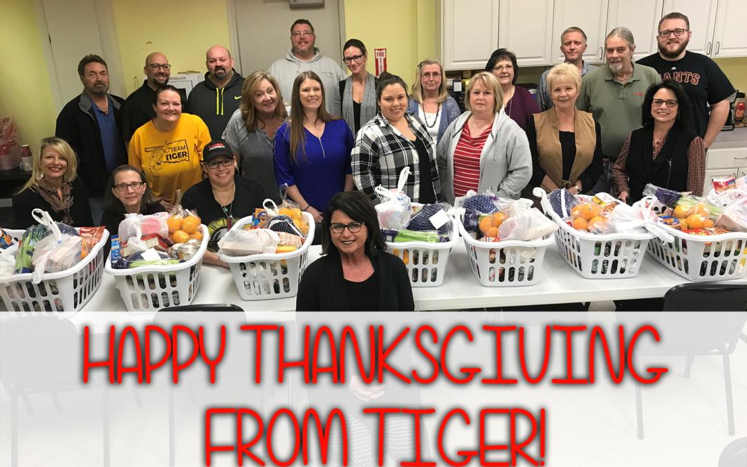 Tiger Donates Thanksgiving Meals